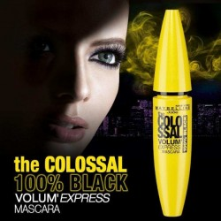 ماسكارا فوليوم إكسبرس ذا كولوسال 100% بلاك من ميبيلين Volum Express The Colossal 100% Black Mascara