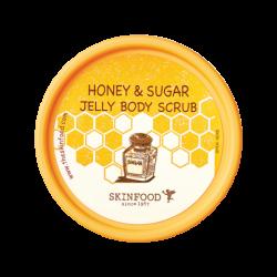 جل مقشر الجسم بالعسل والسكر سكين فود Honey & Sugar Jelly Body Scrub 200g