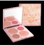 باليت بيكا اضاءه و برونز و بلاشر BECCA x Chrissy Teigen Glow Face Palette