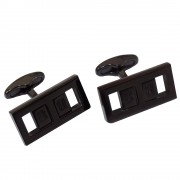 كبك بيلماين هولو اسود Balmain Hollow CuffLink Black