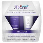 مجموعة كرست ثري دي لتبيض الاسنان CREST 3D WHITE BRILLIANCE 2 STEP TOOTHPASTE
